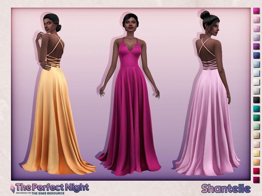Платье Shantelle Dress Симс 4