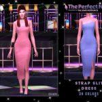 Платье Strap Slit Dress Симс 4