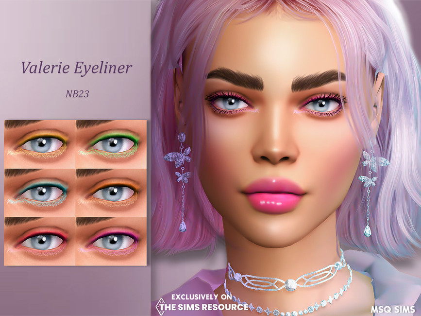 Подводка для глаз Valerie Eyeliner Симс 4
