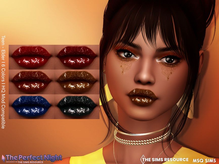 Помада для губ Simchella Lipstick Симс 4
