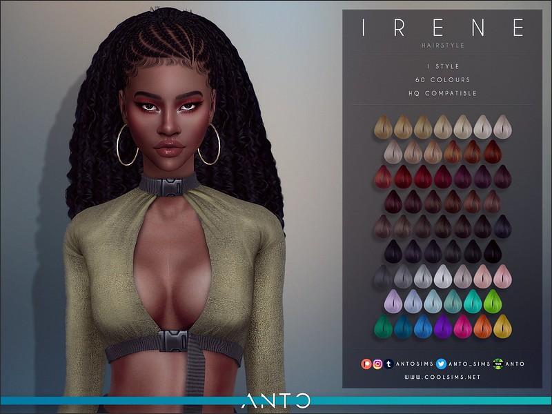 Прическа Irene (Patreon) Симс 4