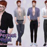 Расстегнутая мужская рубашка Симс 4