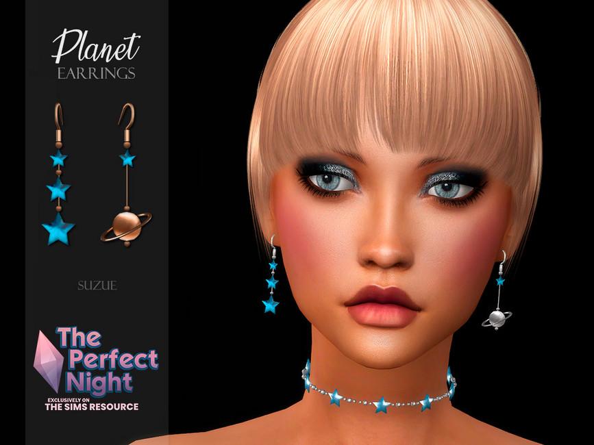 Сережки Planet Earrings Симс 4