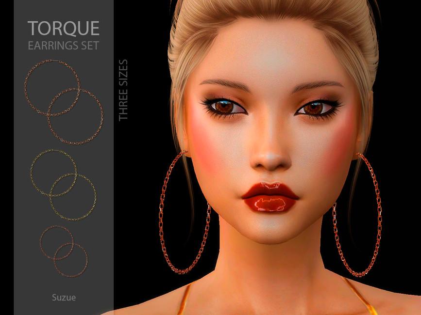 Сережки Torque Earrings Set Симс 4