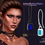 Серьги Evening Deco 2 Earrings Симс 4