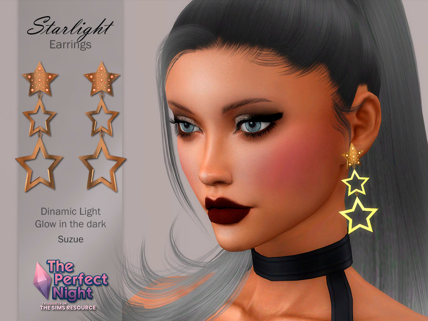 Серьги Starlight Earrings Симс 4