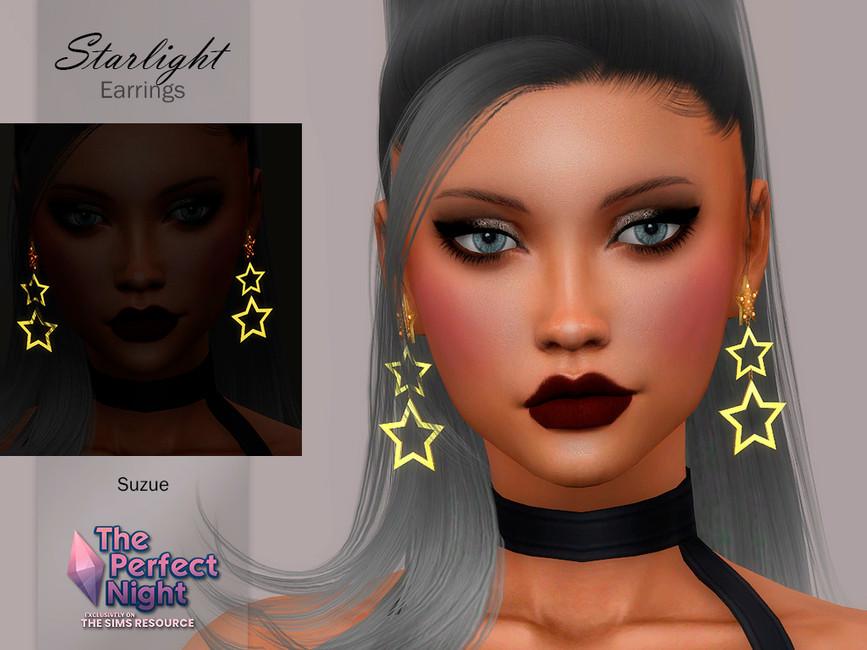 Серьги Starlight Earrings Симс 4 (картинка 2)