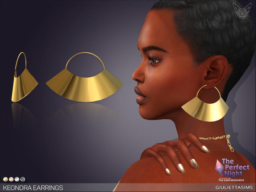 Серьги The Perfect Night Keondra Earrings Симс 4
