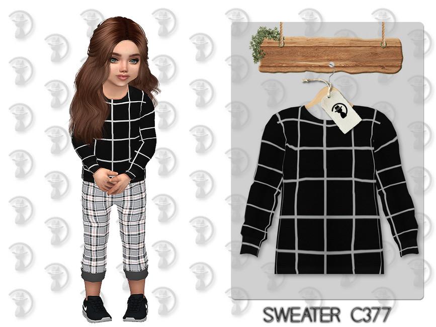 Свитер для детей Sweater C377 Симс 4