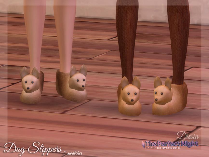Тапочки Dog Slippers Симс 4