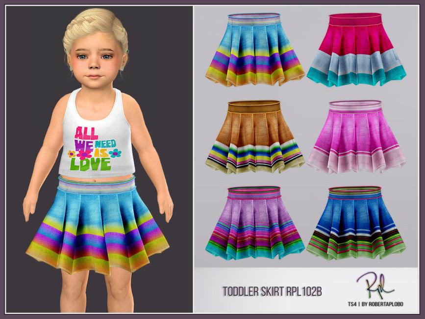 Юбка для девочек Toddler SKIRT RPL102B Симс 4