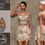 Юбка Eve Set - Skirt Симс 4