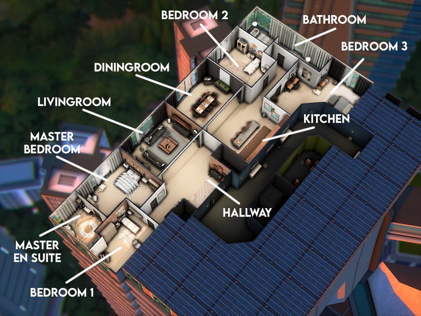 Апартаменты Симс 4 (картинка 4)