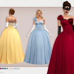 Бальные платья Cora Dress Симс 4