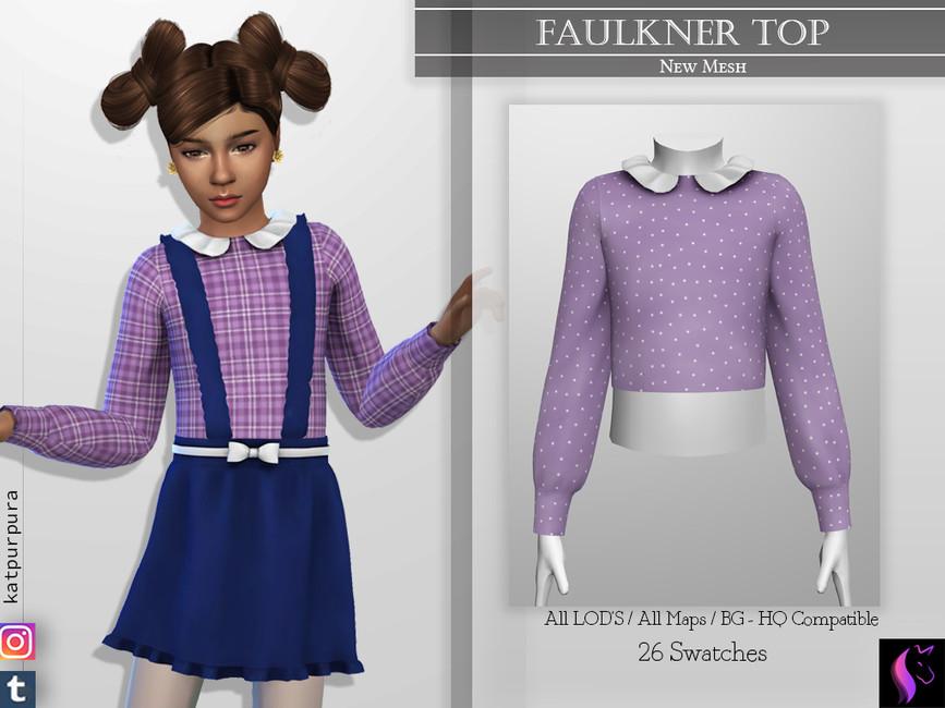 Блузка Faulkner Top Симс 4
