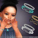 Браслеты для малышей Infinity Love Bracelet For Toddlers Симс 4