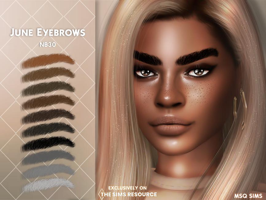Брови June Eyebrows Симс 4