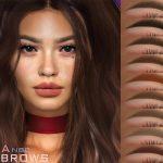 Брови Lena Eyebrows N94 Симс 4