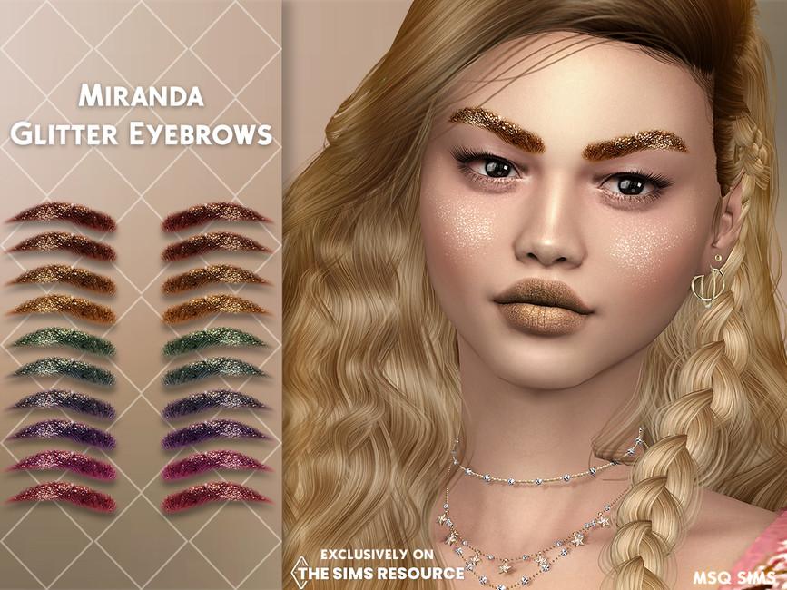 Брови Miranda Glitter Eyebrows Симс 4