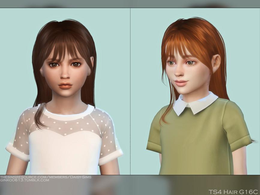 Детские прически Child Hair G16C Симс 4