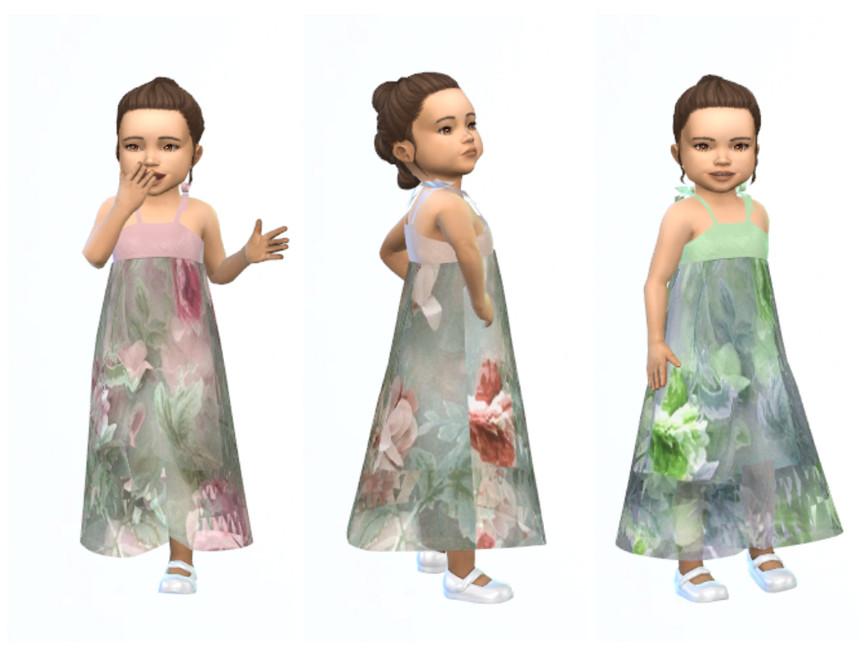 Длинное детское платье Симс 4