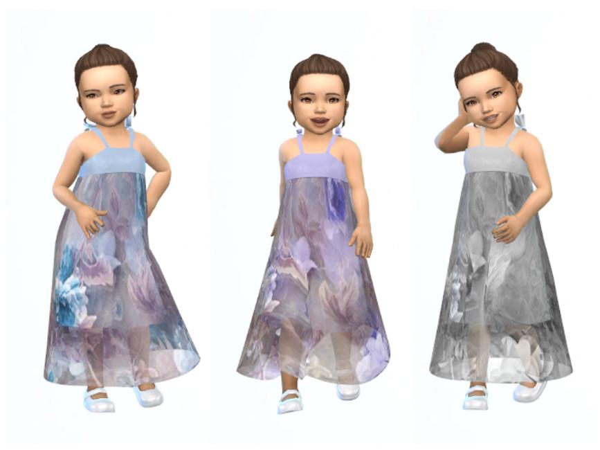 Длинное детское платье Симс 4 (картинка 2)