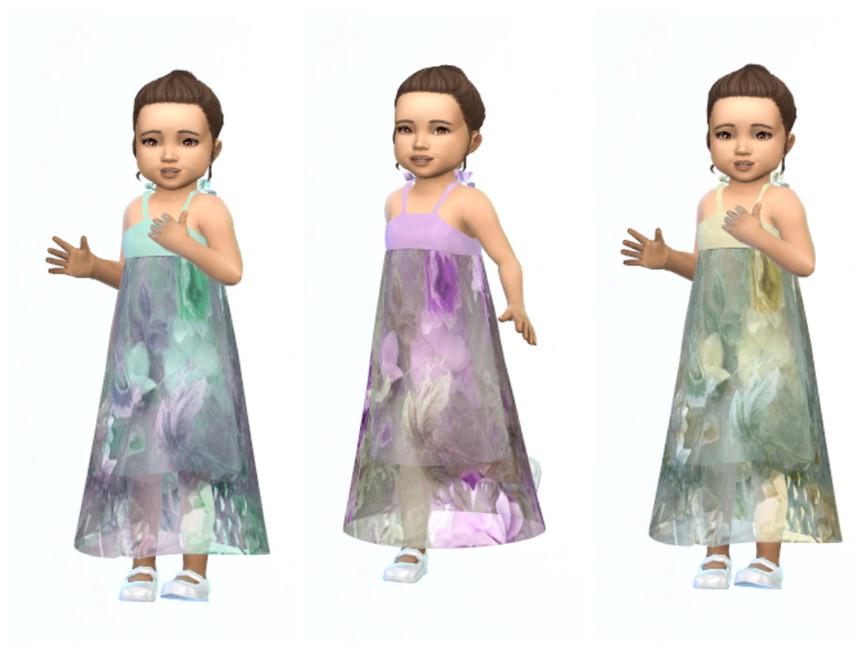 Длинное детское платье Симс 4 (картинка 3)