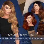 Длинные волнистые волосы Симс 4