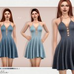 Джинсовое платье Caitlin Dress Симс 4
