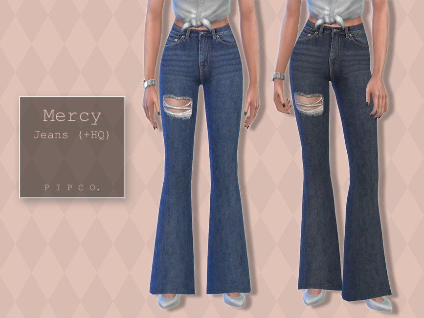 Джинсы Mercy Jeans (Flared) Симс 4