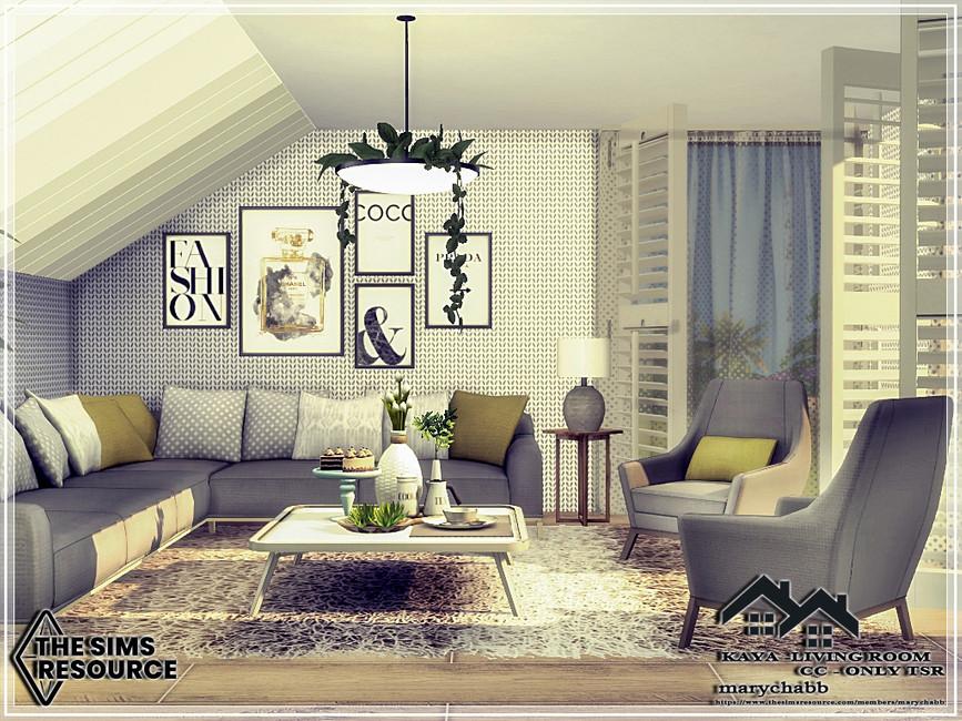 Гостиная KAYA - Living Room Симс 4