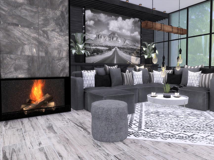 Гостиная Lara Livingroom Симс 4 (картинка 2)