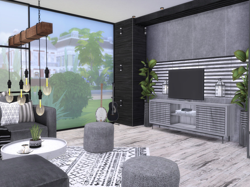 Гостиная Lara Livingroom Симс 4 (картинка 3)