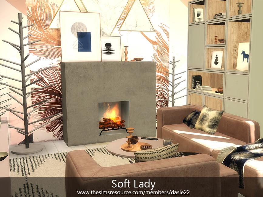 Гостиная Soft Lady Симс 4