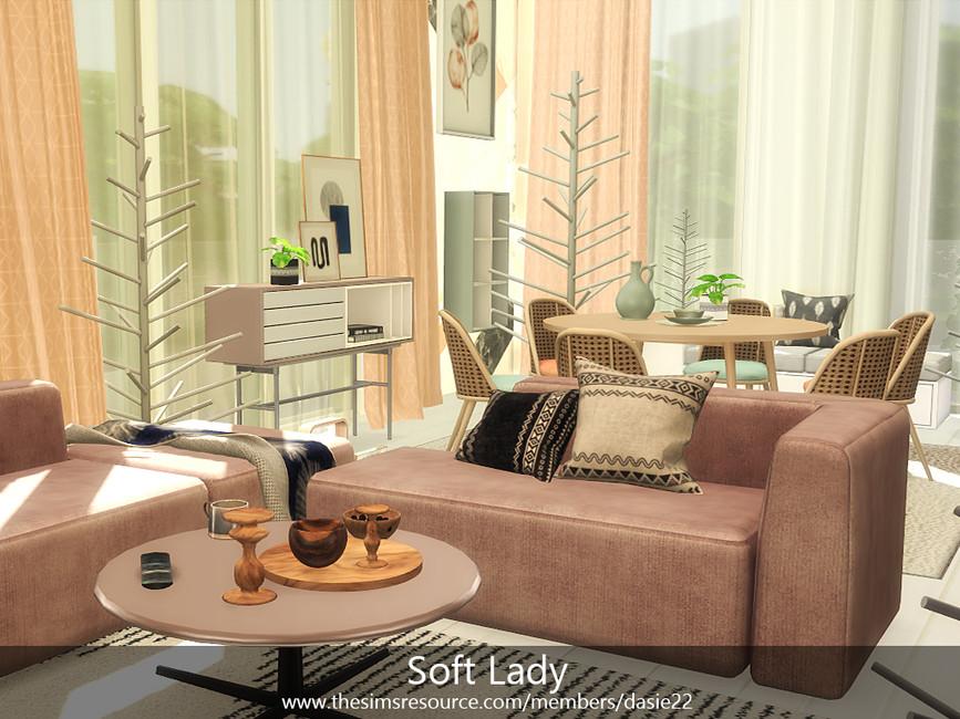 Гостиная Soft Lady Симс 4 (картинка 2)