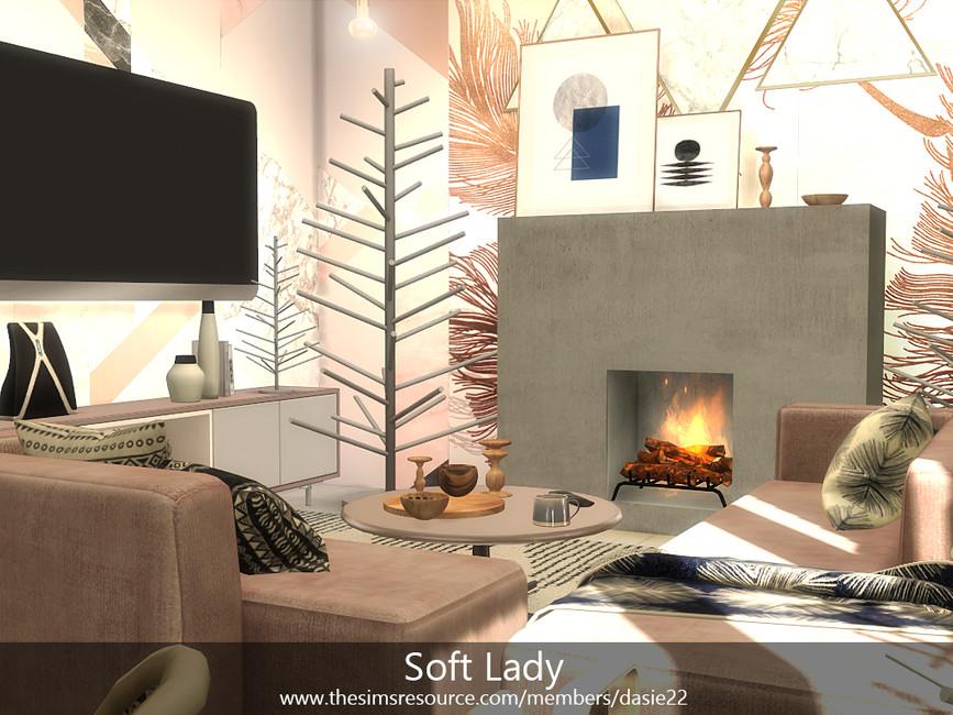 Гостиная Soft Lady Симс 4 (картинка 4)