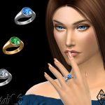 Кольца Statement Gem Signet Ring Симс 4