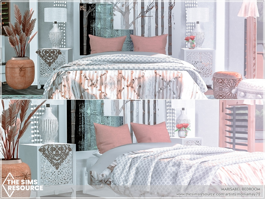 Комната спальня Симс 4 (картинка 2)