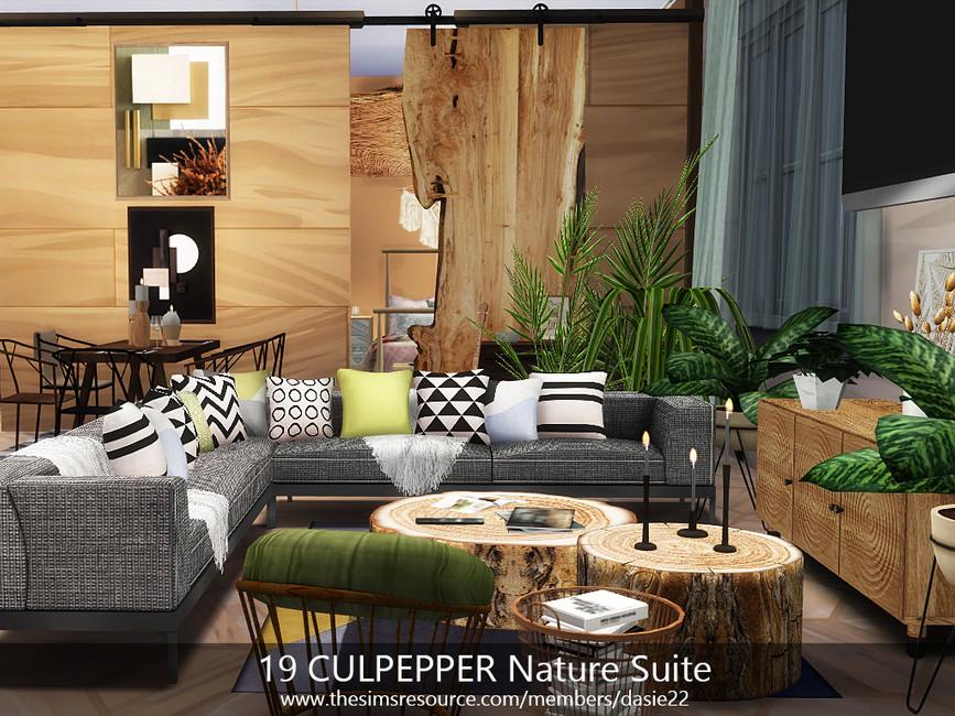 Квартира 19 CULPEPPER Nature Suite Симс 4