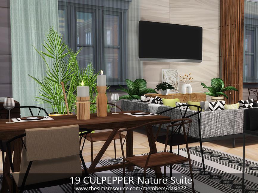 Квартира 19 CULPEPPER Nature Suite Симс 4 (картинка 3)