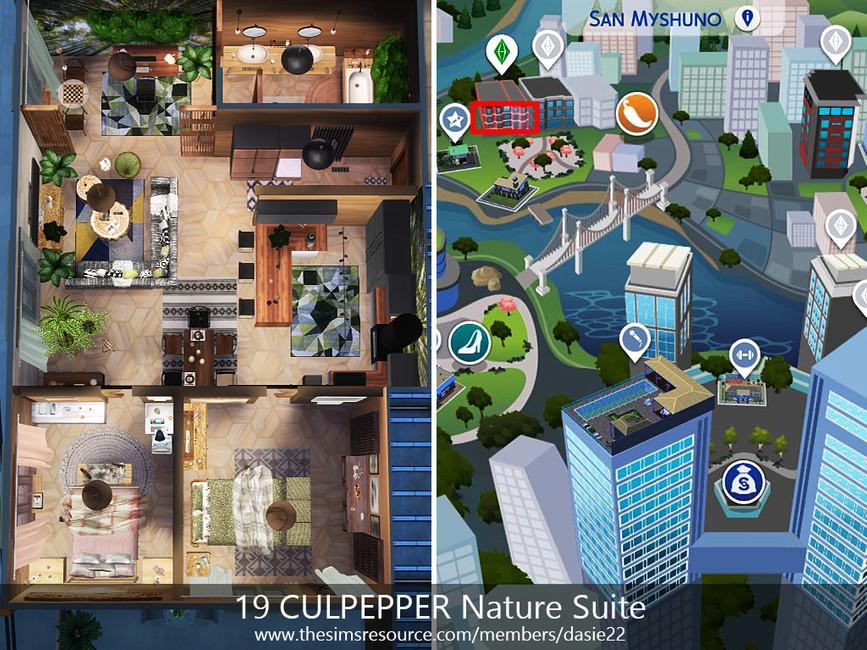 Квартира 19 CULPEPPER Nature Suite Симс 4 (картинка 8)