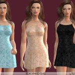 Мини платье Floral Lace Mini Dress Симс 4