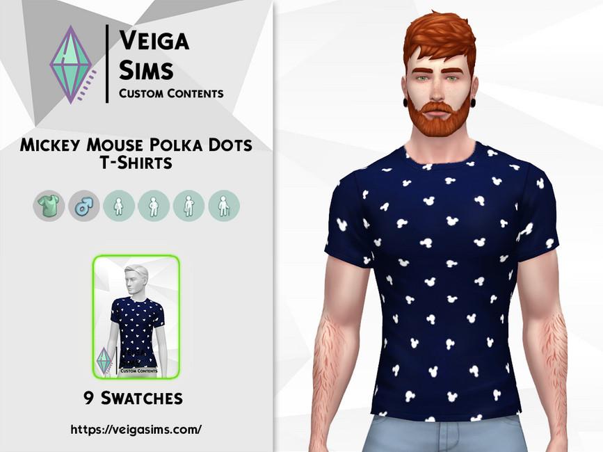 Мод на мужские футболки Симс 4