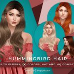 Моды волнистые волосы Симс 4