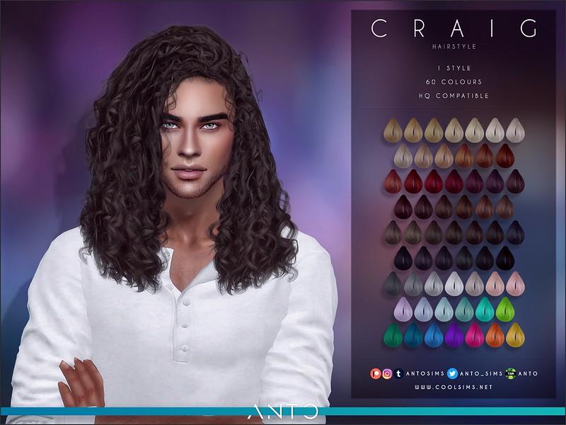 Мужские прически длинные волосы Симс 4
