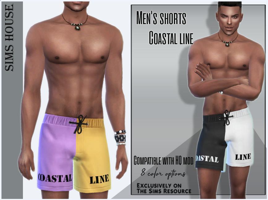 Мужские шорты Men's Shorts Coastal Line Симс 4