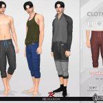 Мужские штаны Yoga Pants 01 For Male Sims для Симс 4