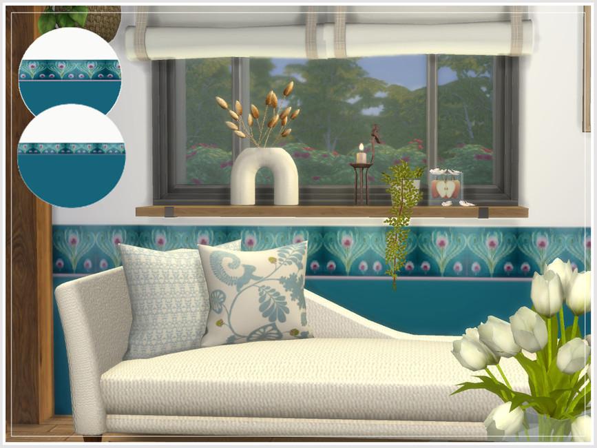 Обои Art Nouveau Floral Walls Симс 4 (картинка 2)