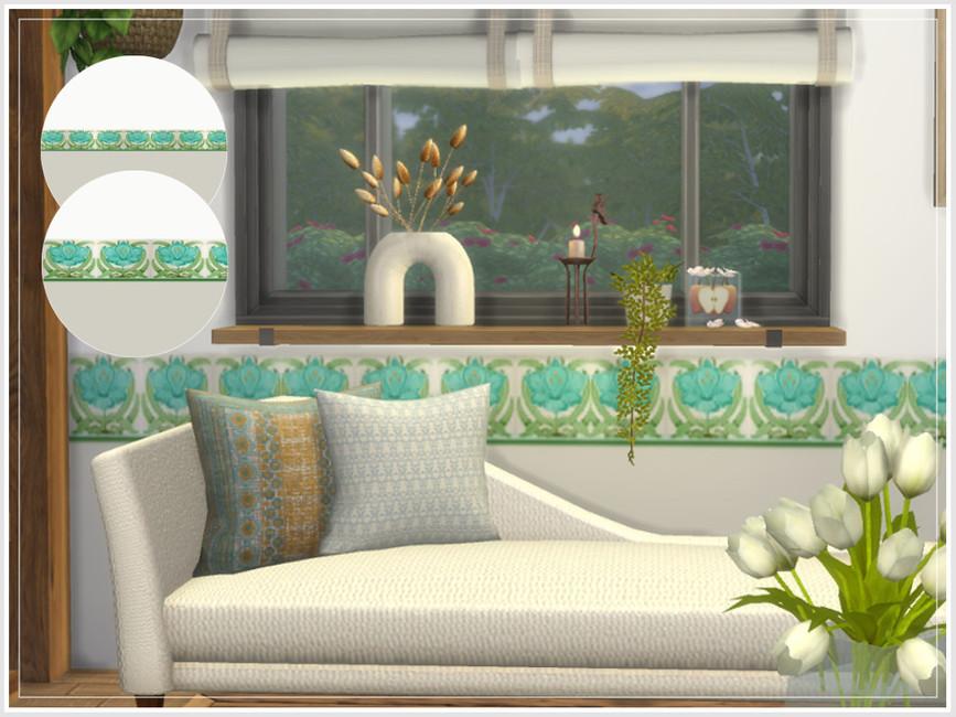 Обои Art Nouveau Floral Walls Симс 4 (картинка 3)