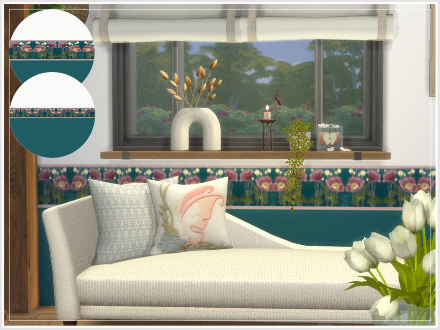 Обои Art Nouveau Floral Walls Симс 4 (картинка 5)